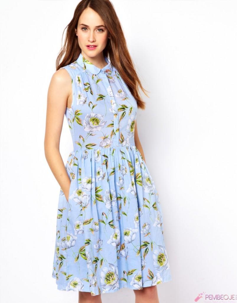 Yaz 2017 Çiçek desenli kıyafet Kombinleri