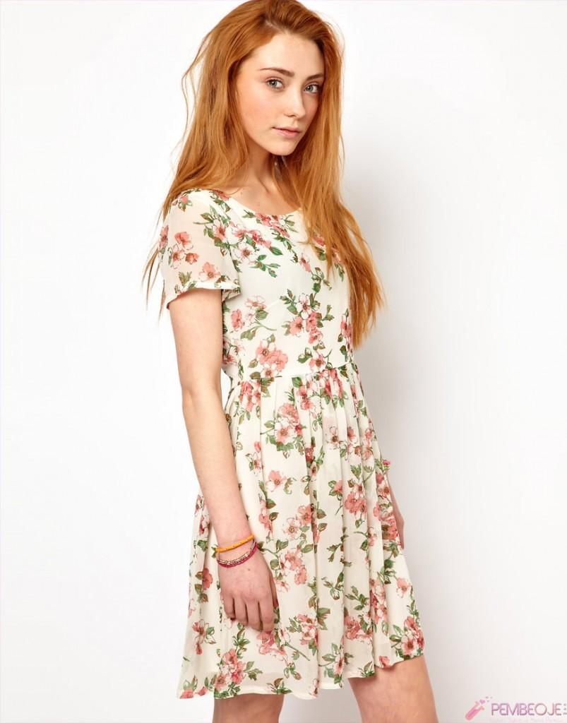 Floral desenli elbiseler nelerdir