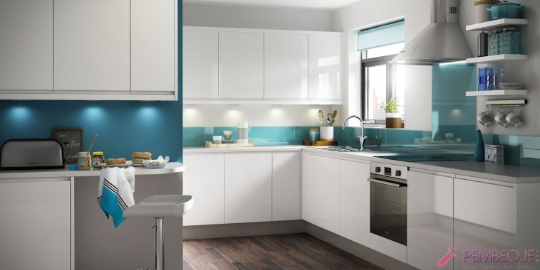 White and blue kitchen kitchen designs fitted kitchens - Mutfak Dolab Nas L Se 231 Ilir Pembeoje Com