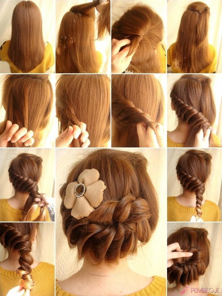 Örgülü Saç Modelleri Ve Yapılışları Resimli