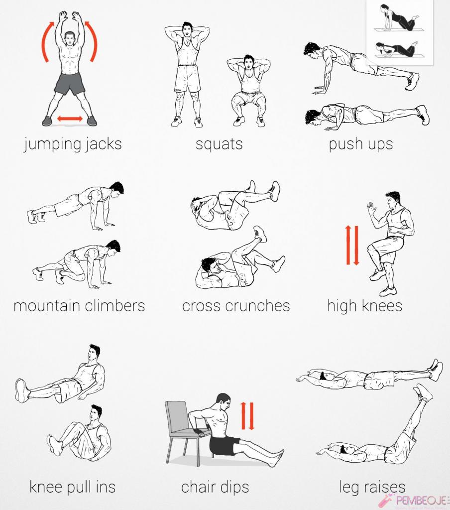 Fitness Hareketleri (Programı) Erkek Bayan