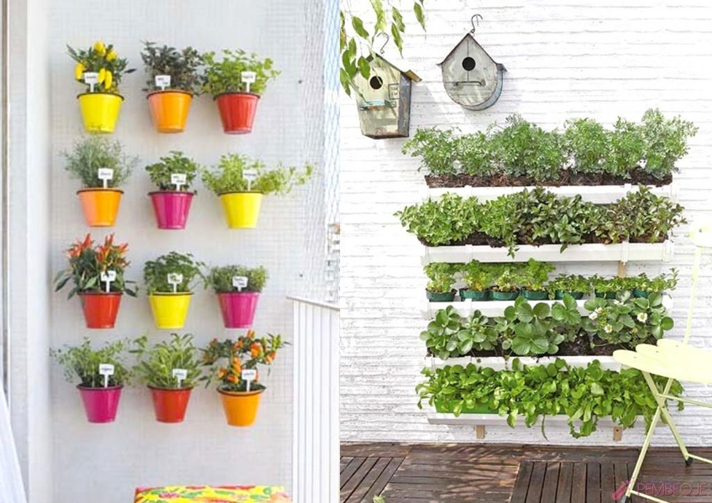 Ev erisinde saks sebzesi nas l yeti tirilir for Balcony vertical garden ideas