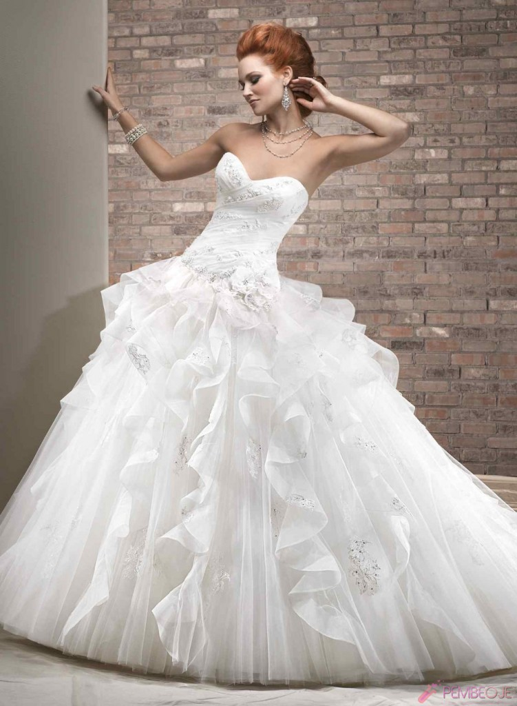 huge wedding dresses en g 252 zel gelinlikler pembeoje 5033
